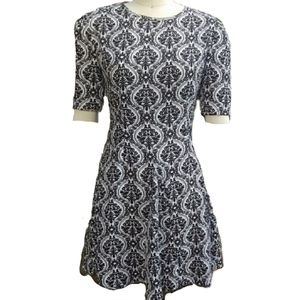 RETRO funky Fashion Union print dress sz XS